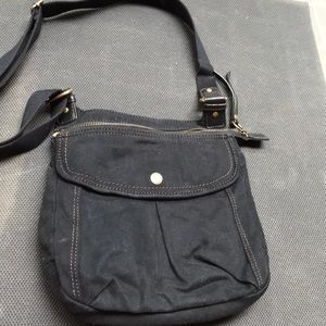 Fossil canvas commuter bag